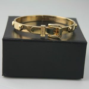 Michael Kors Gold Colored Buckle Bracelet With Box